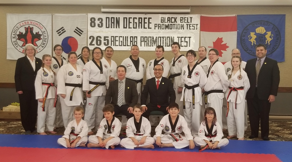 Picture of Poom and Black Belts - February 2020